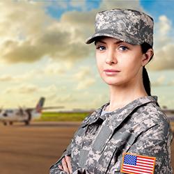 Military Veteran Woman
